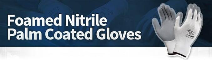 Nitrile Foam Palm Coated Gloves