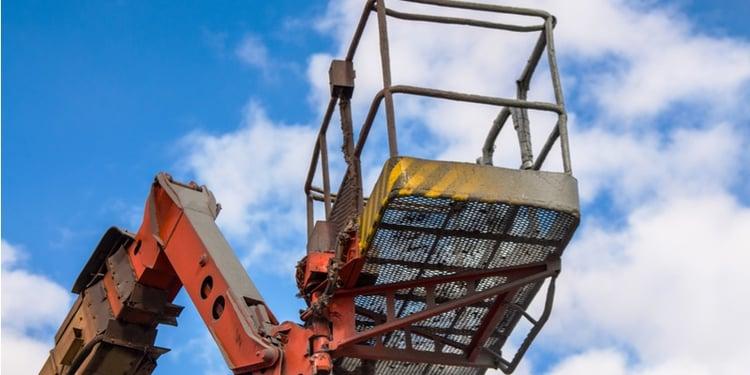 Construction boom lift