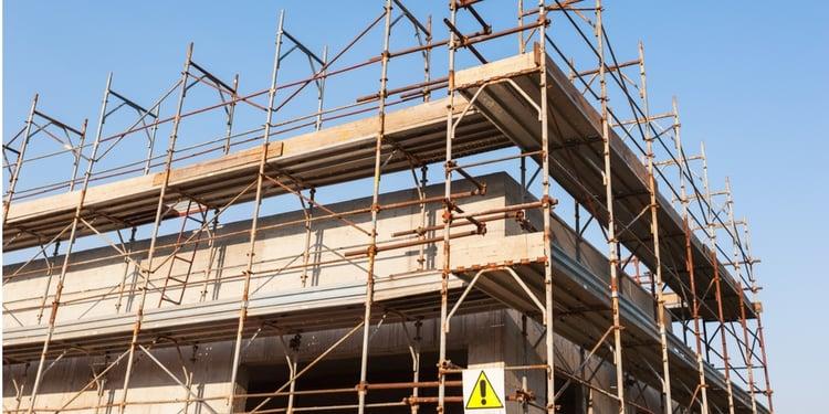 New construction scaffolding